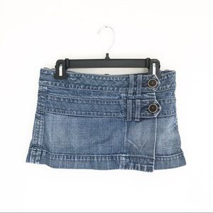 Citizens of Humanity Denim Wrap Mini Skirt Size 27